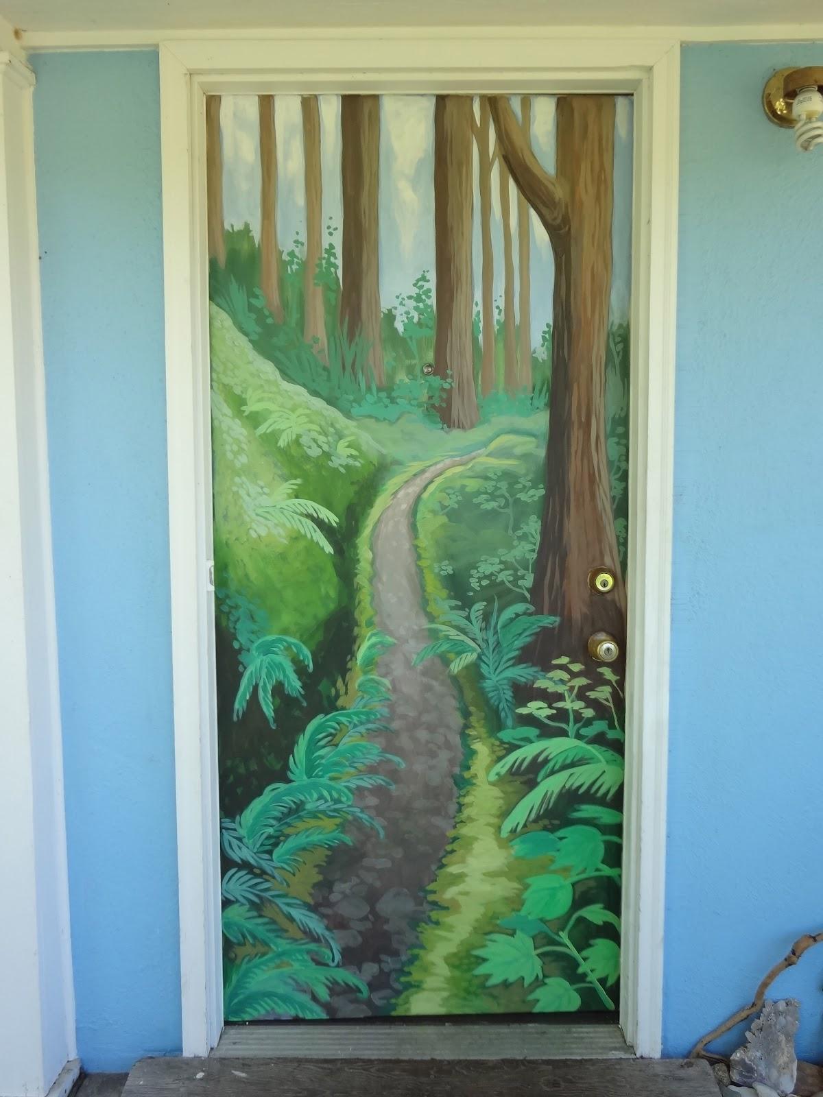 the talking walls tree murals -  them  painted a custom oak tree mural