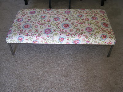 Ikea Hacked Coffee Table Turned Upholstered Ottoman Get Home Decorating