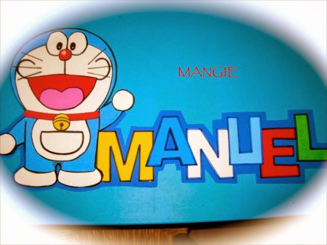 Letrero goma eva Doraemon