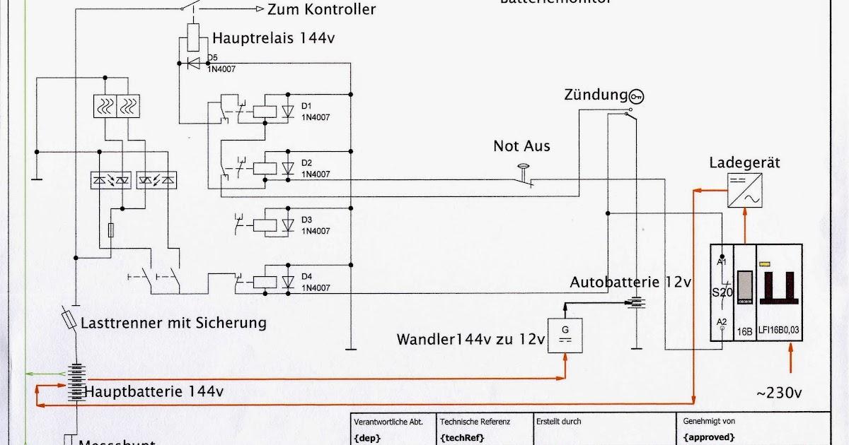 ZPM Zero Polo Mobil - Elektro VW Polo: Schaltplan