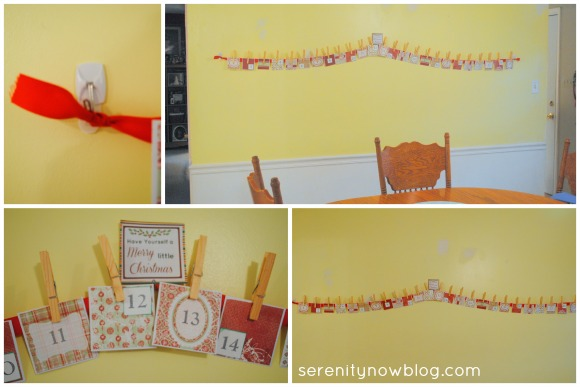 DIY Christmas Advent Calendar, Serenity Now blog
