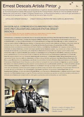 DIVISION AZUL-ARTE-CONGRESO-PINTURA-ANIVERSARIO-70 ANIVERSARIO-ERNEST DESCALS