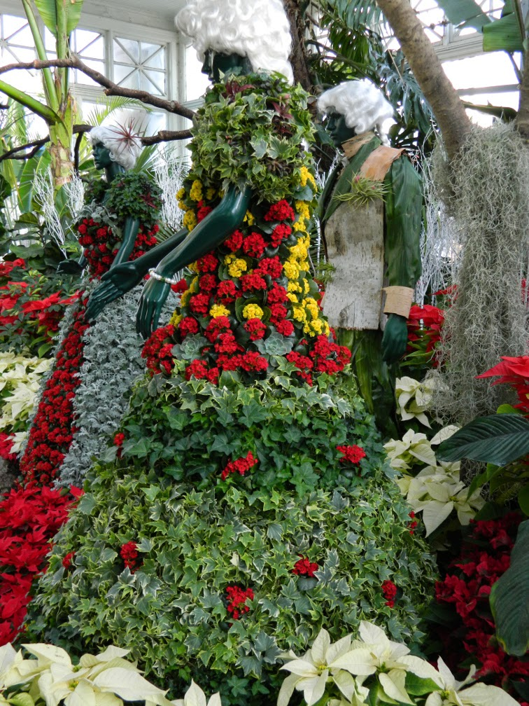 Statues Allan Gardens Conservatory Christmas Flower Show 2014 by garden muses-not another Toronto gardening blog