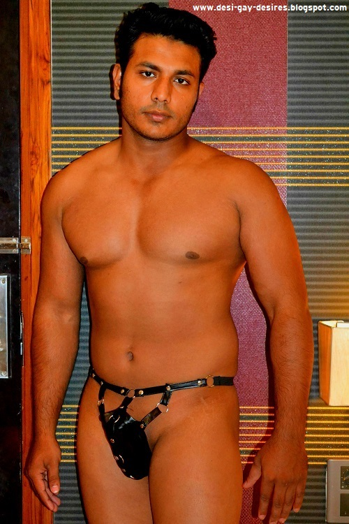 nude guy with g string