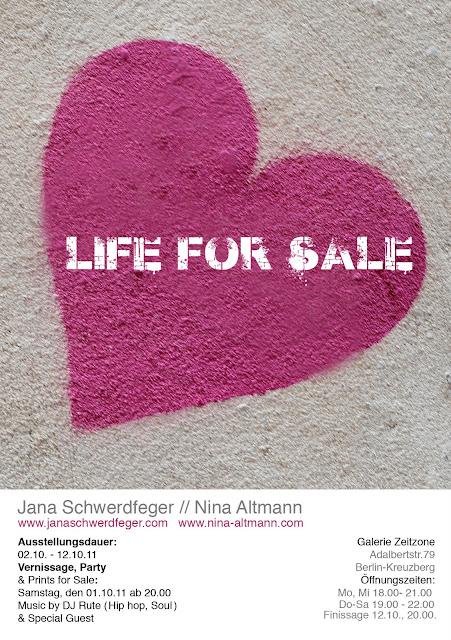 Vernissage LIFE FOR SALE! 01.10.11