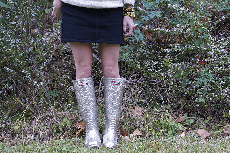 postagious: Fair Isle + Hunter boots