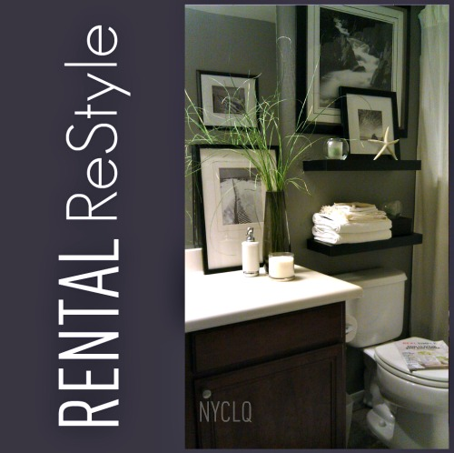 focal point styling rental restyle - Bathroom Decorating Ideas For Renters
