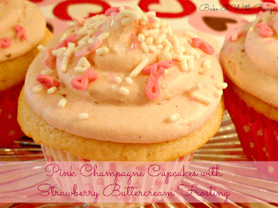 Recipe: Pink Champagne cupcakes with strawberry buttercream