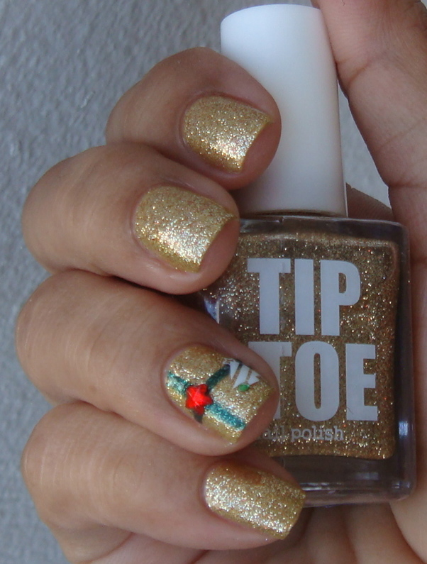 Pinkbeauty: Gold Dust, Tip Toe Nail Polish by Old Navy