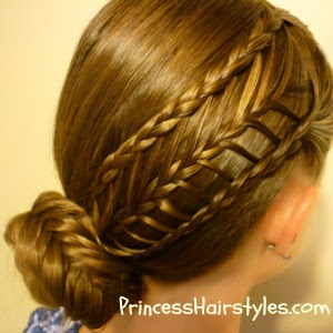 Arrow braid and fishtail braid bun tutorial