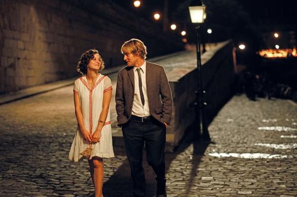 gil and adriana in midnight in paris