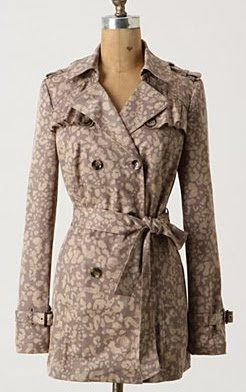 Speckled Print Trench