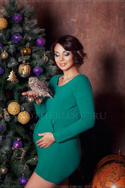 красивая фотосессия в студии беременность