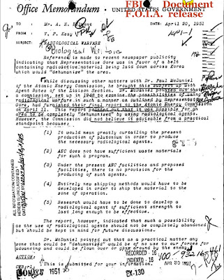 Radiological Warfare for Koea, FBI,  Al Gore 1951