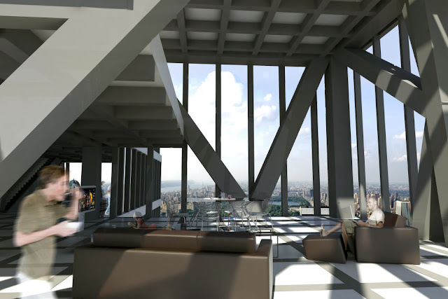 Picture of the apartment interior in the Tower Verre
