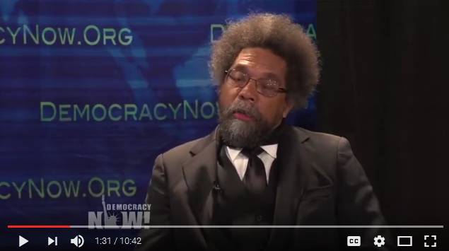 Cornel West interviewed on Democracy Now! by Amy Goodman. The reasons why West endorses JILL STEIN.