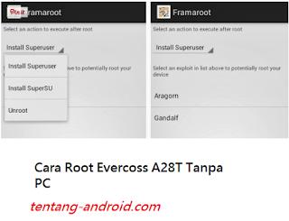 Tampilan FramaRoot Evercoss A28A