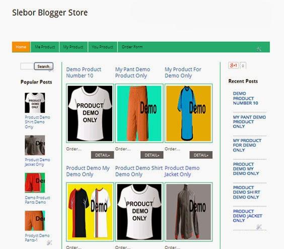 Slebor Blogger Store Template
