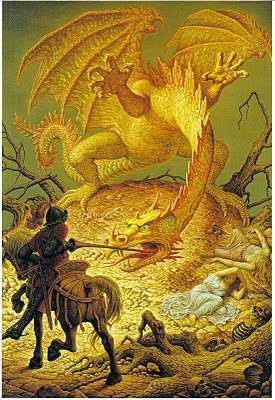 St George and the dragon - Johfra Bosschart