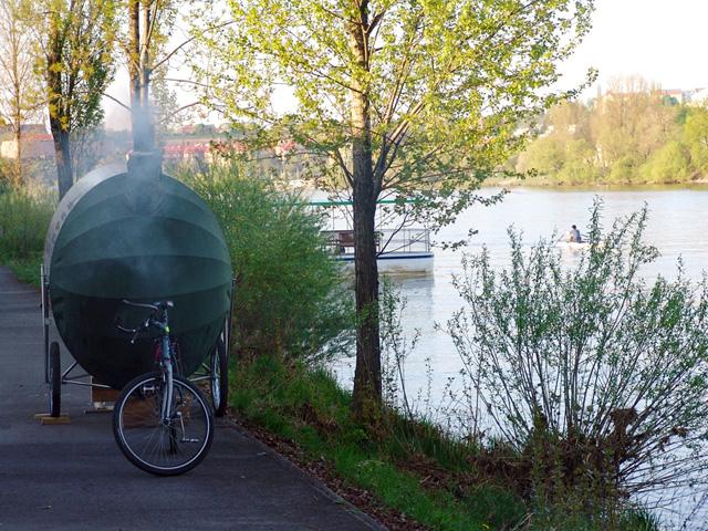 Você já viu bicicleta com sauna