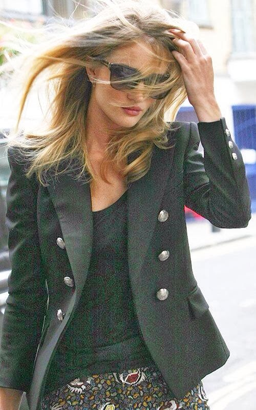 Adorable stylish black blouse and blazer combo