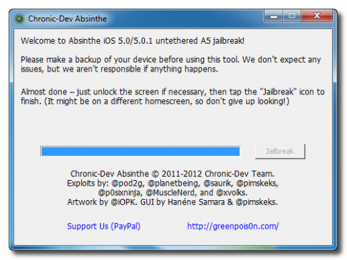 iphone 4s untethered jailbreak using absinthe