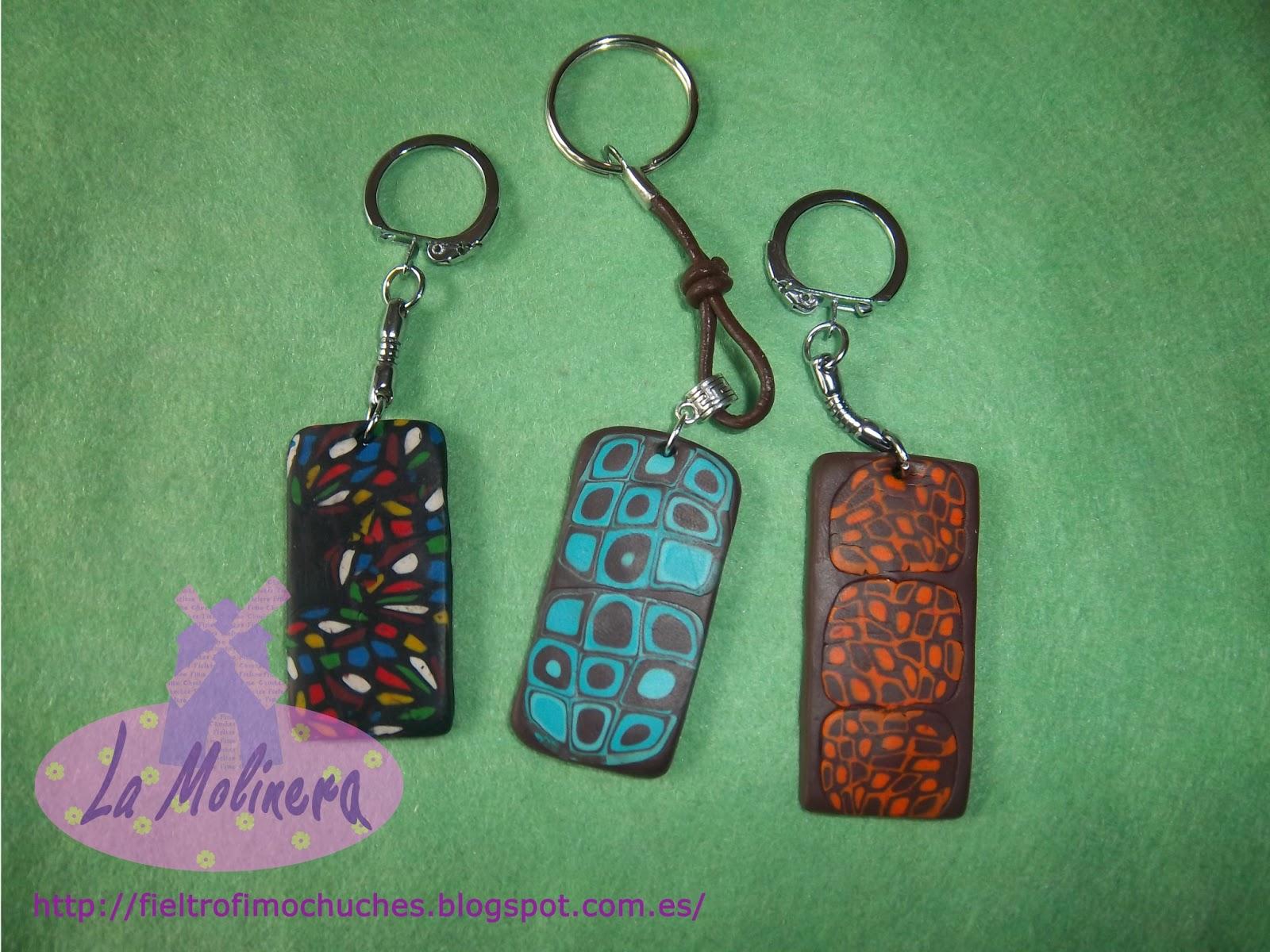 Llaveros de fimo en distintos colores,son un regalo original y muy ...
