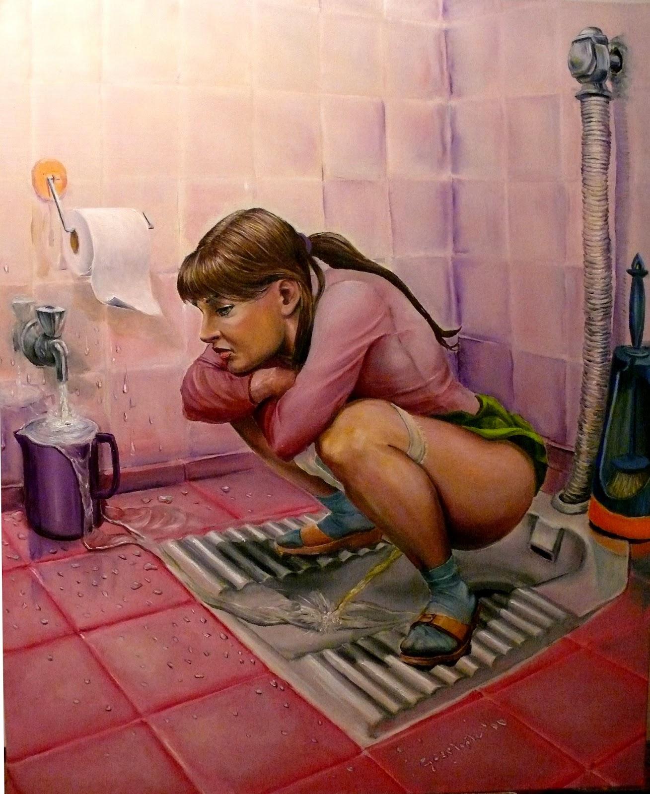 Kadınların Tuvalette İşeme Sahneleri  Sürpriz Porno Hd