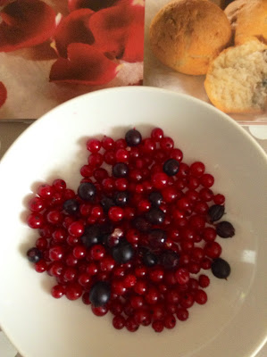 red currant and blackberry