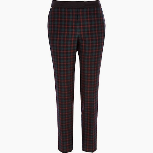 dark tartan trousers