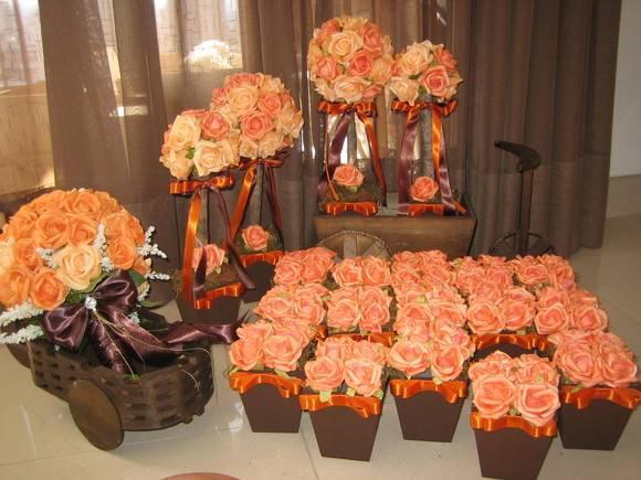 SIM Blog de Casamento Decoração para casamento Marrom e laranja