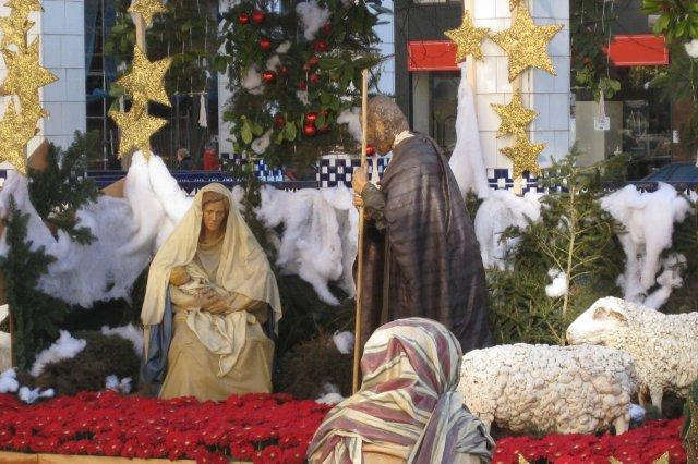 Belen durante la Navidad en Gijon, Nacimiento de Cristo