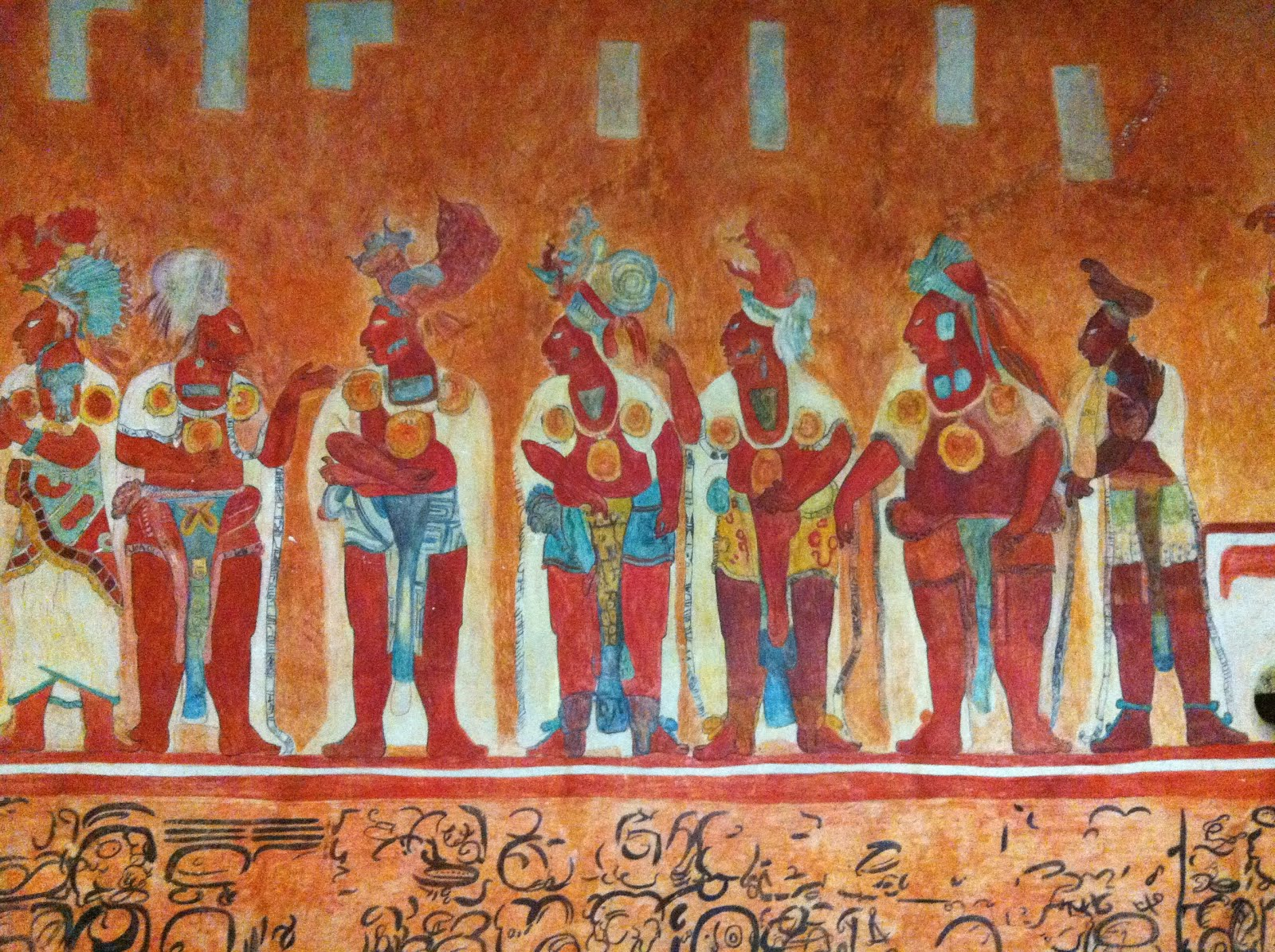 Bonampak murals reproduction