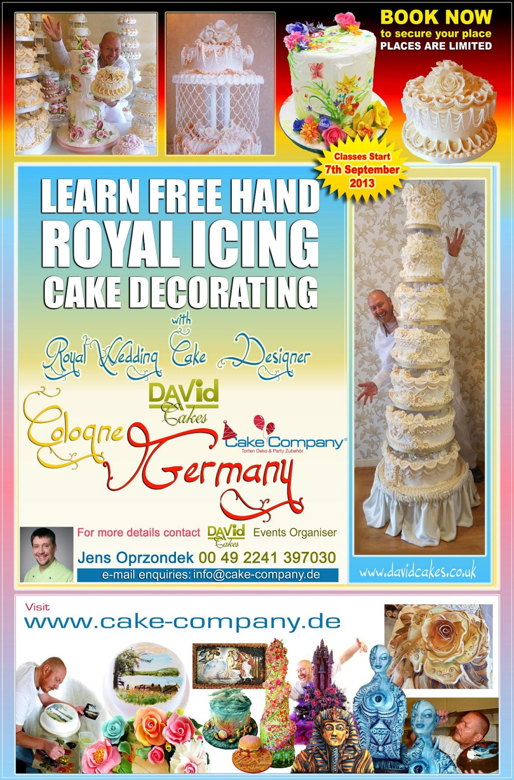 Cake Decorating Classes Merseyside : Jens Sugarcraft World: Seminar mit David and Ed aus Liverpool
