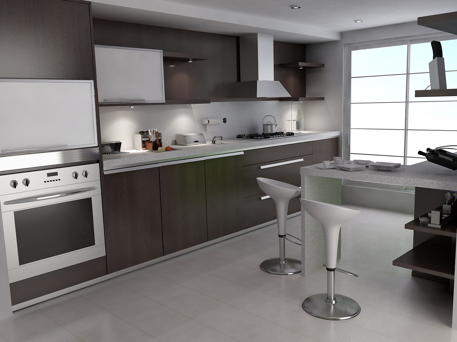Small kitchen interior design model home interiors for Kitchen designs for small houses
