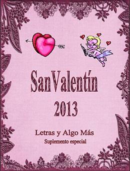 Suplemento Especial San Valentín 2013 - Letras y Algo Más Portada+Suple+San+Valentin