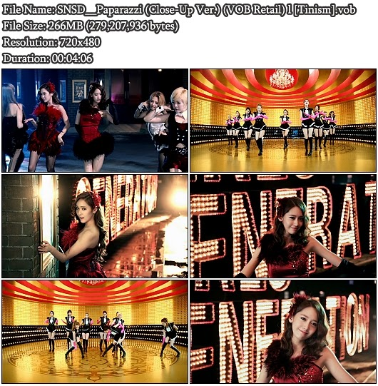 Download PV SNSD (Girls' Generation / 소녀시대) - Paparazzi (Close-Up Version) (VOB Retail)