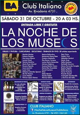 Noche de los Museos. Mas de 50 Artistas, participando nuestra querida y talentosa pintora Ida De Vincenzo
