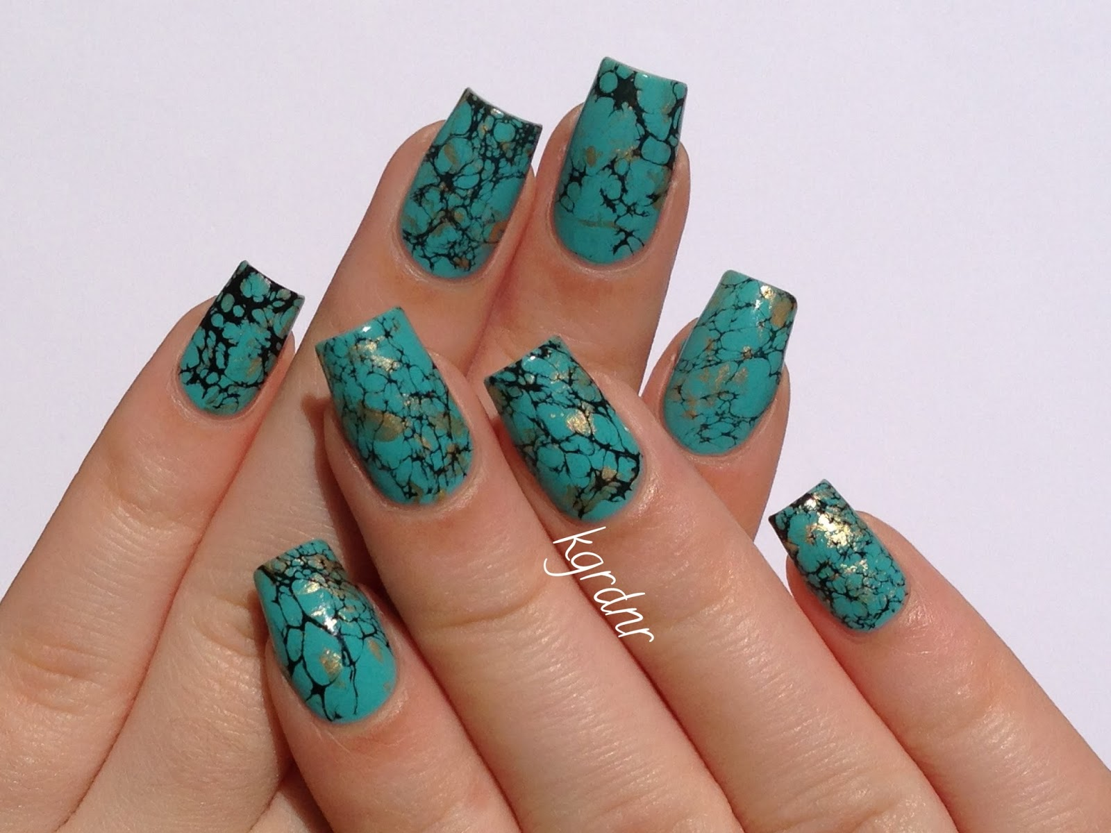 Lacquerstyle turquoise stone nails tutorial turquoise stone nails tutorial prinsesfo Choice Image