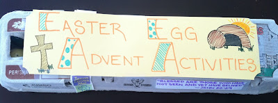 Easter Egg Advent Activites | Make leading up to Easter Fun & Focus on Jesus!