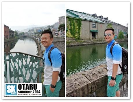Otaru Japan - Me posing by the Otaru Canal