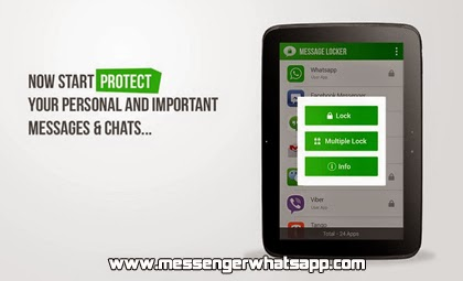 Protege tus mensajes con Message Locker Secure Chat para WhatsApp