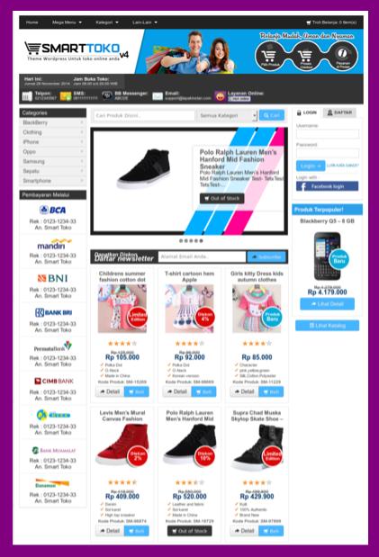 Themes online store wordpress