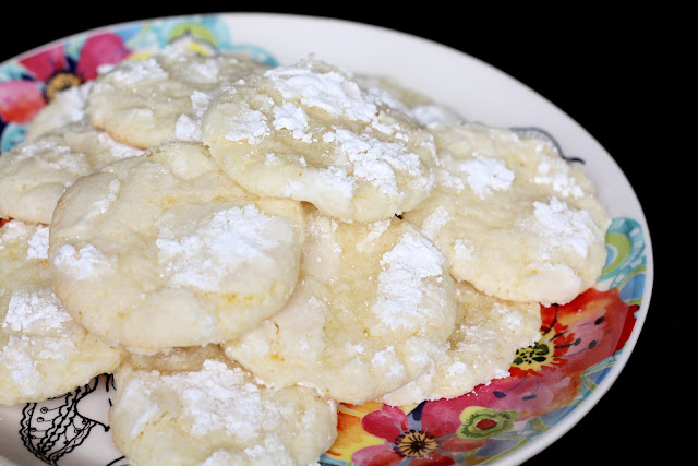 Lemon Crinkle Cookies - Gluten Free recipe by Barefeet In The Kitchen