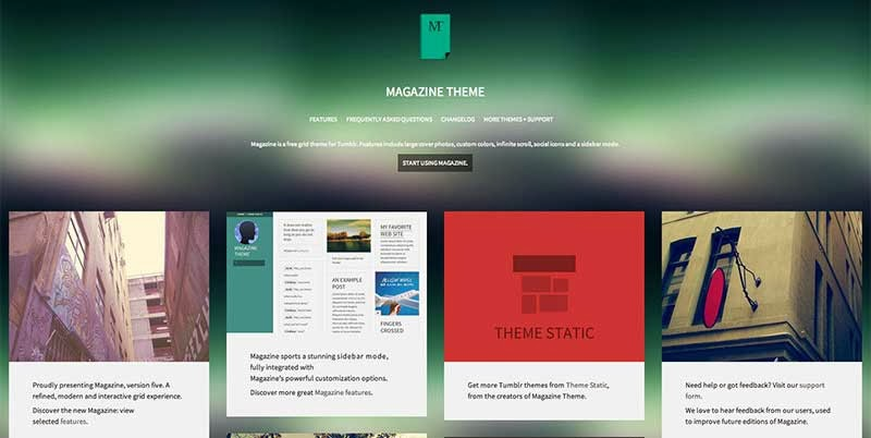 Magazine Tumblr Theme