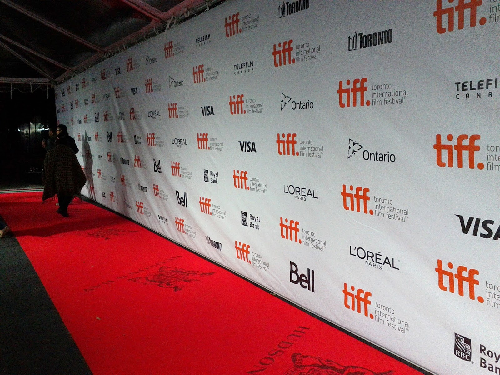 TIFF red carpet picture and backdrop