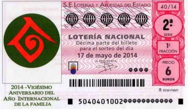 Lotería nacional del sábado 17 de mayo de 2014