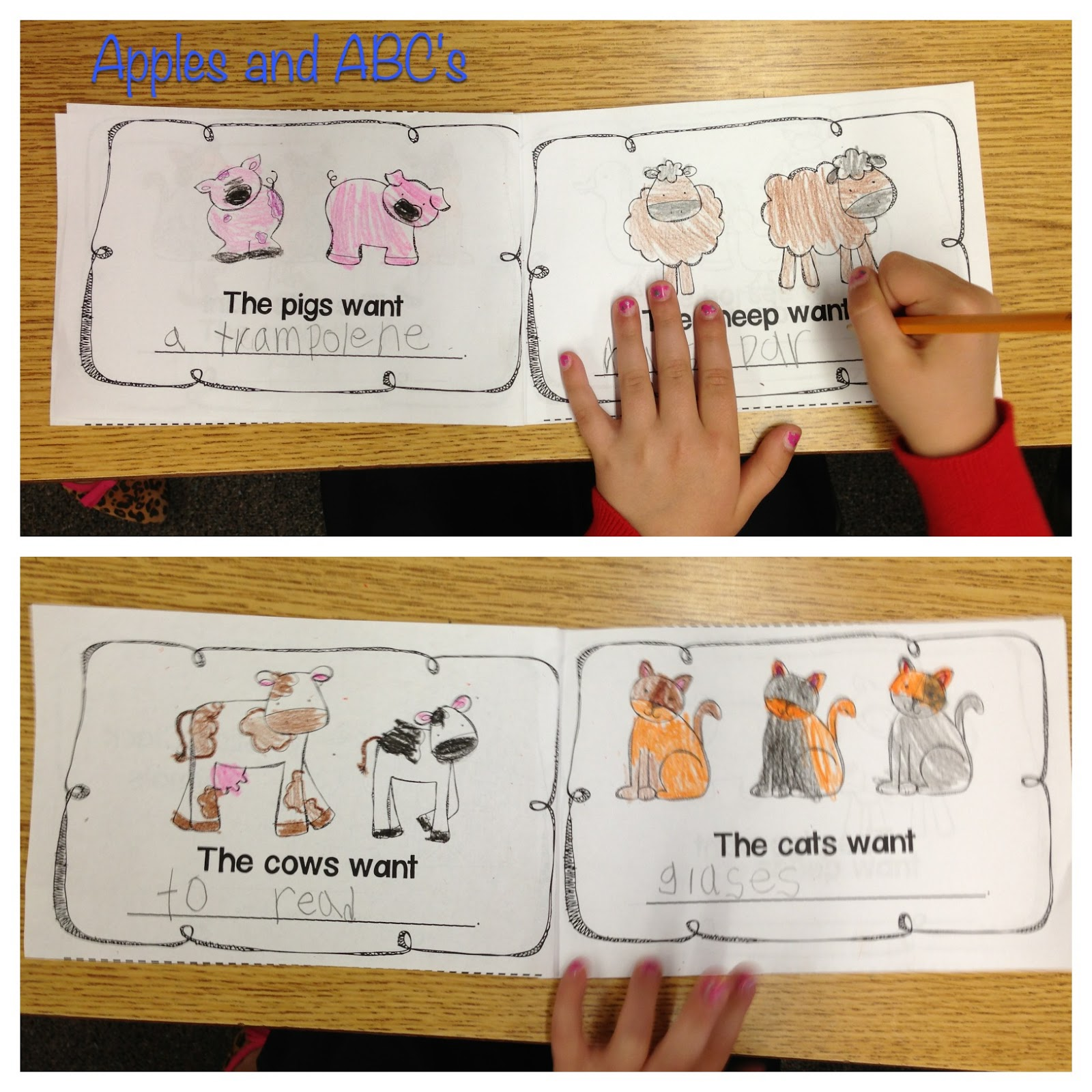 ... show what each animal wanted! The kids got really creative with this