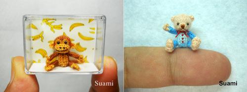 01-SuAmi-Mini-Crocheted-Animals-Brown-Monkey-Creme-Bear