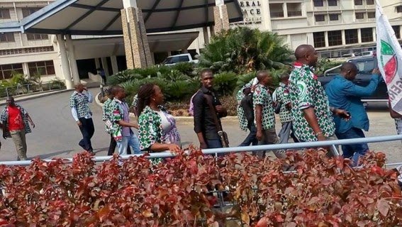 Workers Protest At Federal Palace Hotel